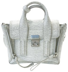 3.1 Phillip Lim Satchel in white and grey pattern