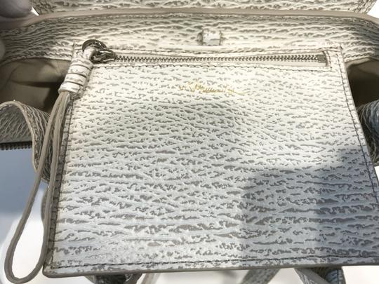 3.1 Phillip Lim Satchel in white and grey pattern Image 10