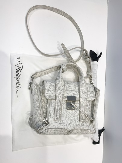 3.1 Phillip Lim Satchel in white and grey pattern Image 11