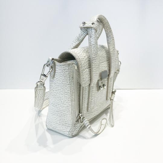 3.1 Phillip Lim Satchel in white and grey pattern Image 2