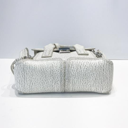 3.1 Phillip Lim Satchel in white and grey pattern Image 3