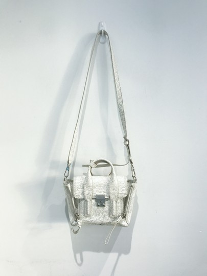 3.1 Phillip Lim Satchel in white and grey pattern Image 4