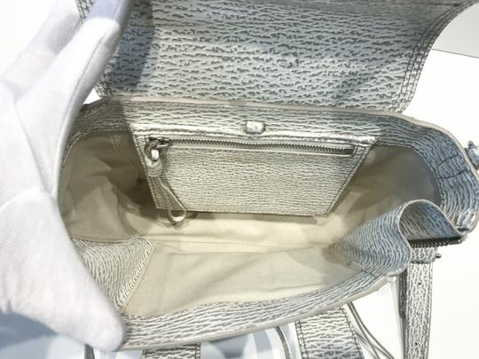 3.1 Phillip Lim Satchel in white and grey pattern Image 5