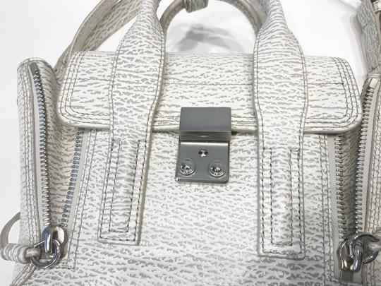 3.1 Phillip Lim Satchel in white and grey pattern Image 7