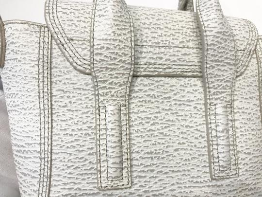 3.1 Phillip Lim Satchel in white and grey pattern Image 8