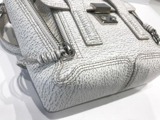 3.1 Phillip Lim Satchel in white and grey pattern Image 9