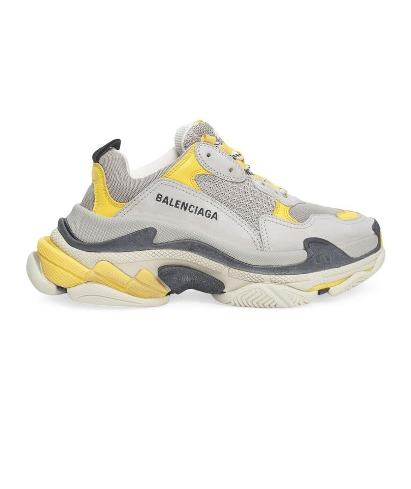 dbdde19386 Balenciaga Yellow Grey White New Triple 5 Sneakers. Size: EU 35 (Approx.