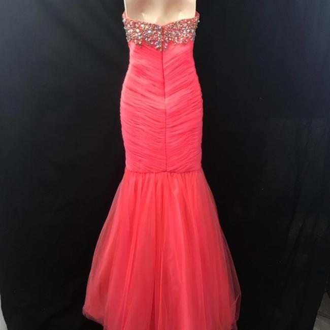 Cassandra Stone Strapless Ball Gown Pageant Dress Image 3