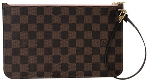 Louis Vuitton Lv Neverfull Neverfull Mm Damier Canvas Pouch Wristlet in Brown
