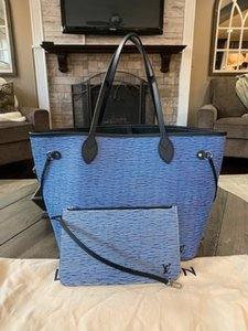 Louis Vuitton Shoulder Hobos Lv Epi Leather Bags Tote in Blue