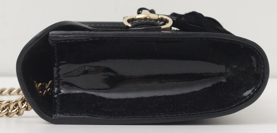 477ffc55b6aed3 Gucci Emily Chain Strap Small Black Patent Leather Shoulder Bag - Tradesy
