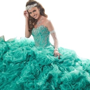 Quinceanera Collection Pageant Ball Gown Strapless Dress