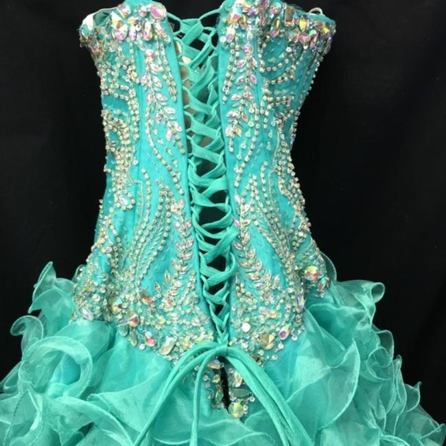 Quinceanera Collection Pageant Ball Gown Strapless Dress Image 3
