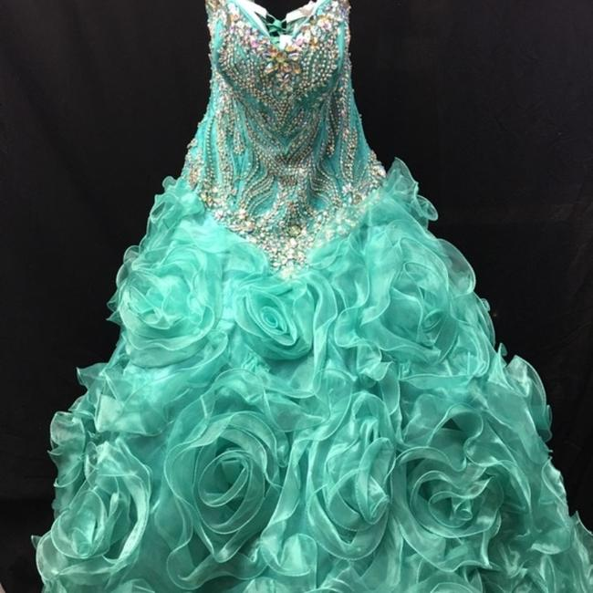 Quinceanera Collection Pageant Ball Gown Strapless Dress Image 4