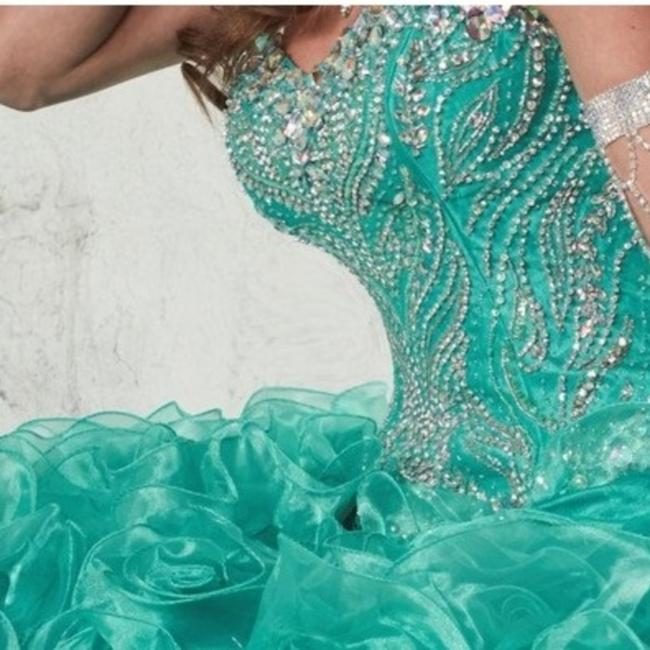 Quinceanera Collection Pageant Ball Gown Strapless Dress Image 5