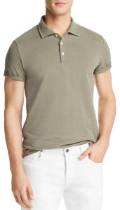 Bloomingdale's Men Polo T Shirt Green