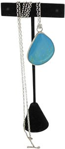 other Genuine Turquoise & Sterling Silver Pendant with Sterling Silver Chain