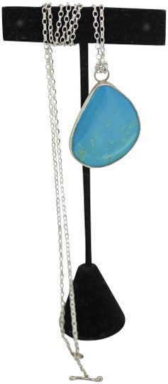 Preload https://img-static.tradesy.com/item/25282922/sterling-silverturquoise-genuine-pendant-with-chain-necklace-0-1-540-540.jpg