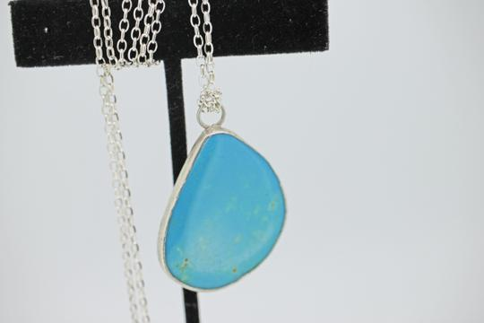 other Genuine Turquoise & Sterling Silver Pendant with Sterling Silver Chain Image 1