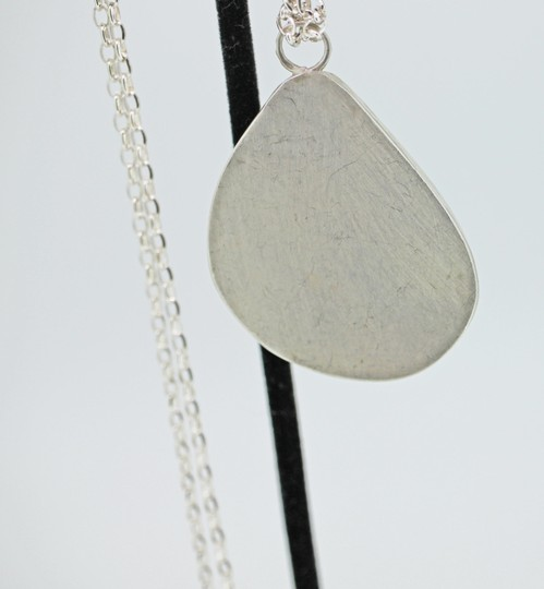 other Genuine Turquoise & Sterling Silver Pendant with Sterling Silver Chain Image 3