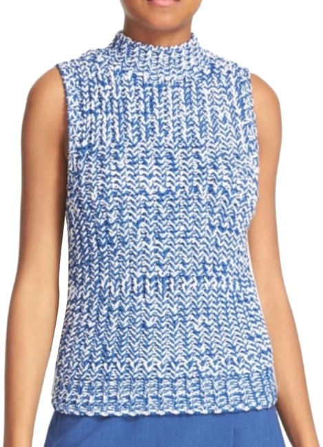 Preload https://img-static.tradesy.com/item/25282933/alice-olivia-tomi-blue-and-white-sweater-0-2-650-650.jpg
