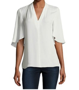 Elie Tahari Button Down Shirt Fresh Pearl