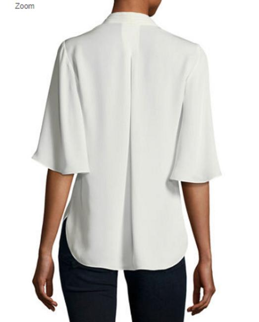 Elie Tahari Button Down Shirt Fresh Pearl Image 1