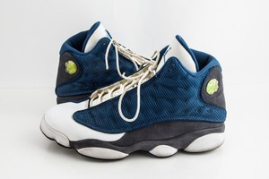 Nike Blue Air Jordan 13 Retro Flint Shoes