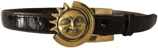 Barry Kieselstein-Cord Sterling Silver Winking Sun Belt Buckle with Alligator Strap Image 0