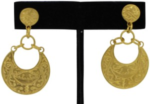 other Turkish style carved earrings 18k gold vermeil