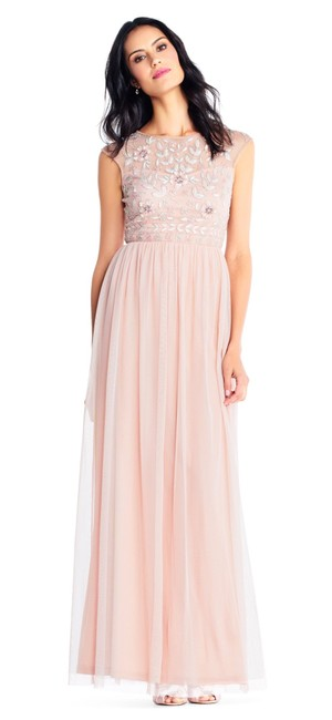 Preload https://img-static.tradesy.com/item/25283081/adrianna-papell-blush-beaded-gown-long-formal-dress-size-6-s-0-0-650-650.jpg