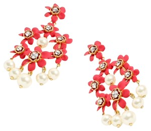 J.Crew j.crew pearl and crystal floral chandelier earring