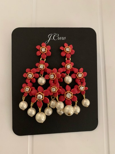 J.Crew j.crew pearl and crystal floral chandelier earring Image 4