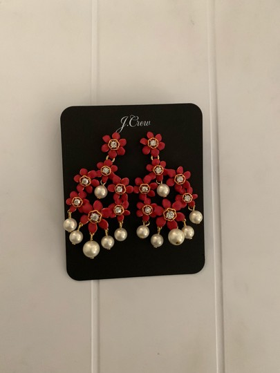 J.Crew j.crew pearl and crystal floral chandelier earring Image 6
