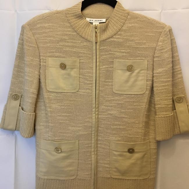 St John Wool Blend Short Sleeve Zip Front Size S Small 4-6 Cardigan Image 1