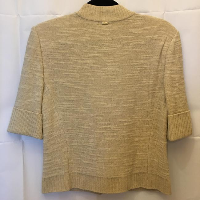 St John Wool Blend Short Sleeve Zip Front Size S Small 4-6 Cardigan Image 7