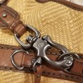 Francesco Biasia Satchel in Straw and chocolate brown detailing Image 1