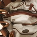 Francesco Biasia Satchel in Straw and chocolate brown detailing Image 7