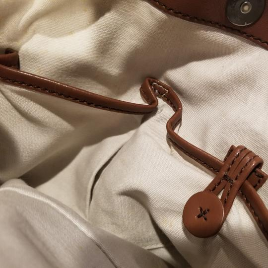 Francesco Biasia Satchel in Straw and chocolate brown detailing Image 9