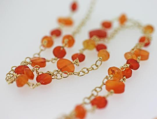 other GF wire wrap chain with carnelian Image 2