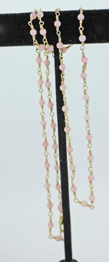 other Gold filled wire wrap with pink coral Image 2