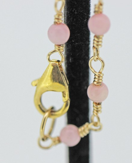 other Gold filled wire wrap with pink coral Image 3