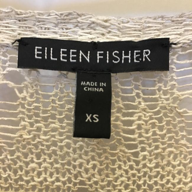 Eileen Fisher Linen Blend V-neck Asymmetric Hem Size Xs Extra Small Sweater Image 2
