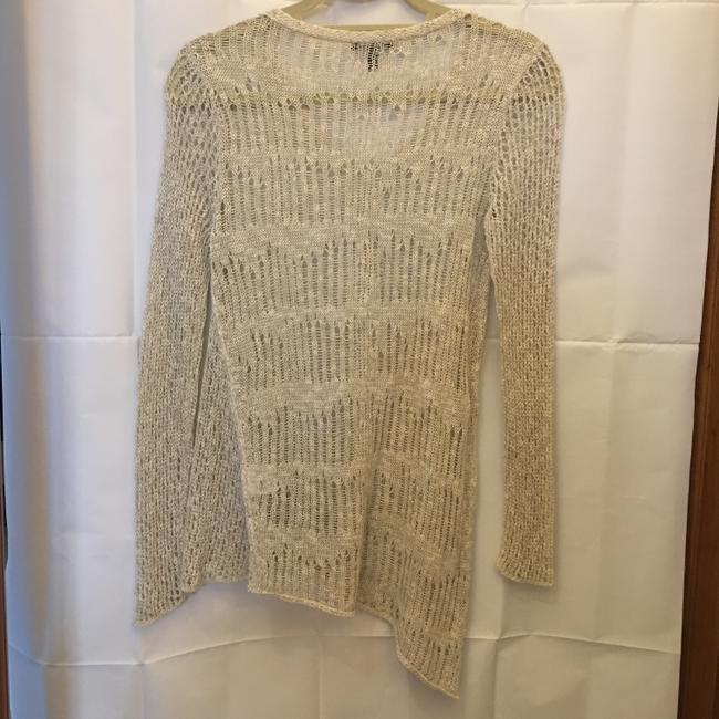 Eileen Fisher Linen Blend V-neck Asymmetric Hem Size Xs Extra Small Sweater Image 5