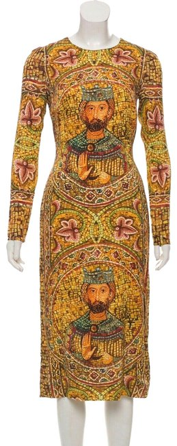 Preload https://img-static.tradesy.com/item/25283302/dolce-and-gabbana-multicolor-byzantine-mid-length-cocktail-dress-size-2-xs-0-2-650-650.jpg