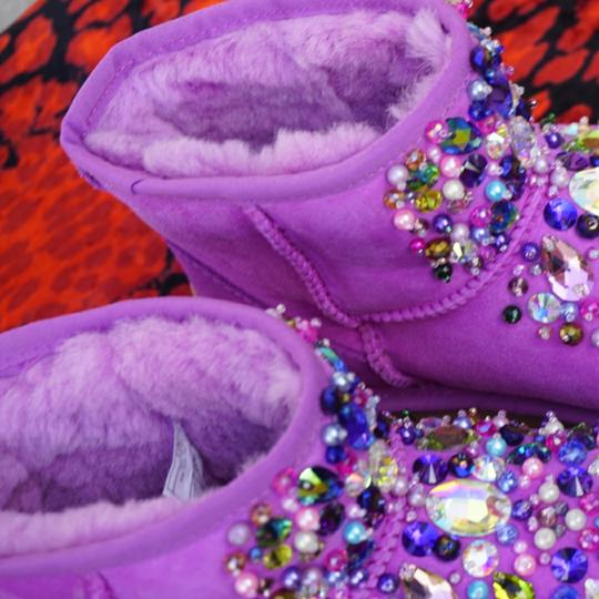 100% AUTHENTIC UGG AUSTRALIA BOOTS AUTHORS WORK SWAROVSKI CRYSTALS SIZE US 8 EU 39 Pink Boots Image 1