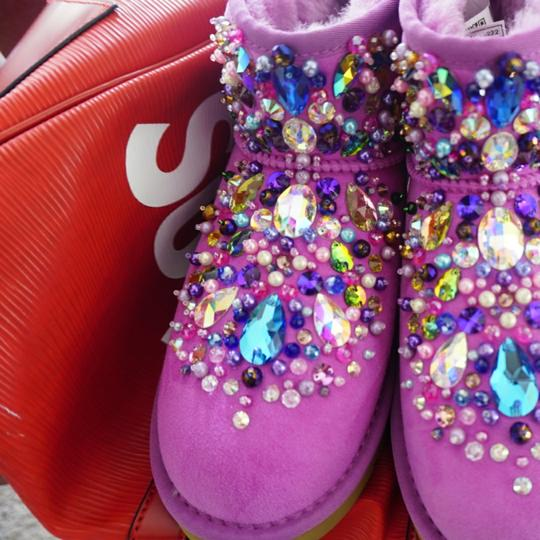 100% AUTHENTIC UGG AUSTRALIA BOOTS AUTHORS WORK SWAROVSKI CRYSTALS SIZE US 8 EU 39 Pink Boots Image 5