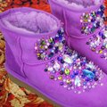 100% AUTHENTIC UGG AUSTRALIA BOOTS AUTHORS WORK SWAROVSKI CRYSTALS SIZE US 8 EU 39 Pink Boots Image 6