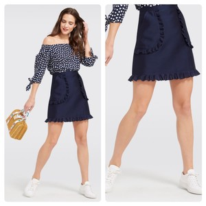 Draper James Mini Skirt Navy Blue