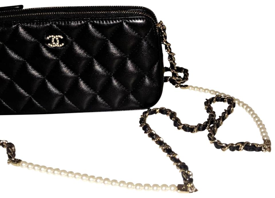 941a6263c121 Chanel Clutch With Chain Gold Metal Lambskin Leather Cross Body Bag ...